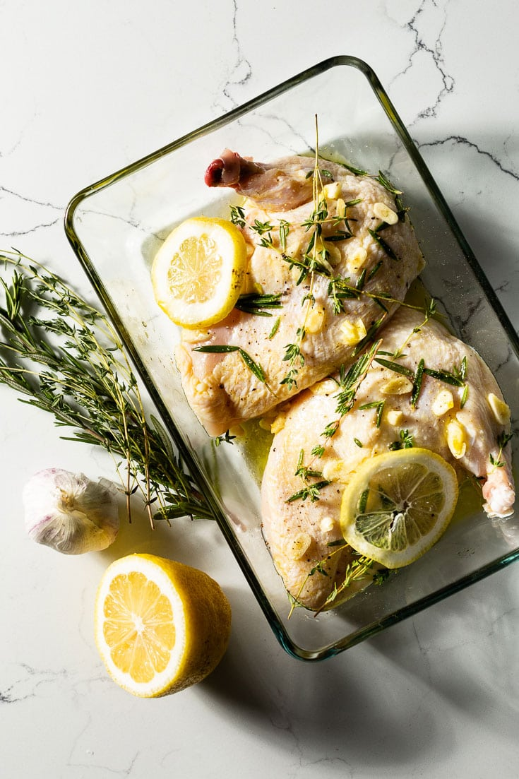 grilled chicken breast marinating