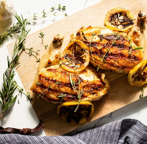 grilled chicken breast overhead horizontal