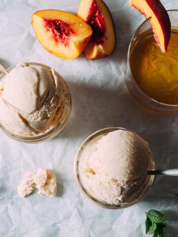 Grilled Peach-Bourbon Ice Cream Recipe