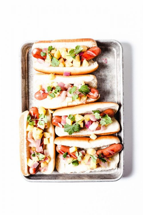 Hawaiian Bacon Dogs