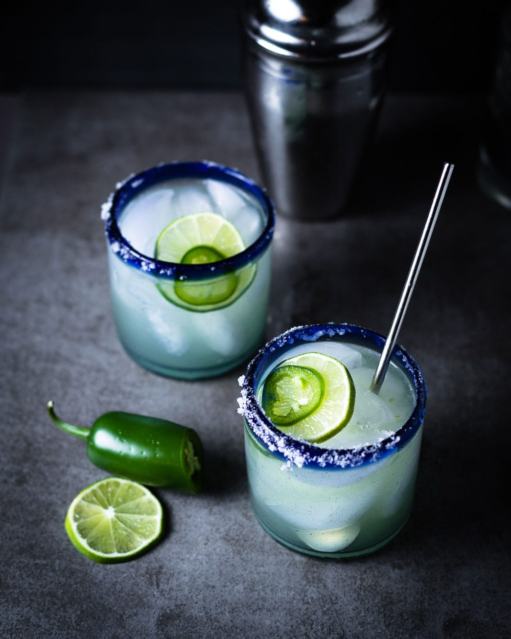 Hot and smoky mezcal margarita 1