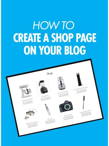 how to create a shop page on wordpress blog
