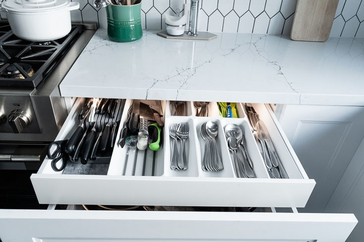 ikea silverware hidden drawer