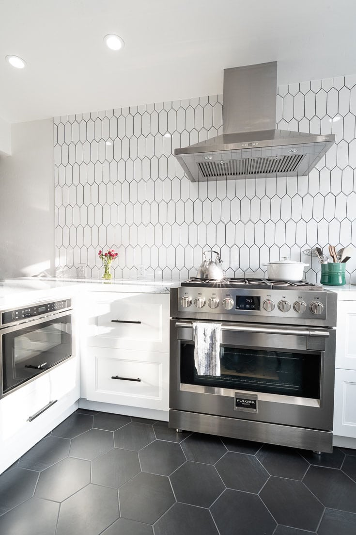 kitchen reveal with hex tiles 2