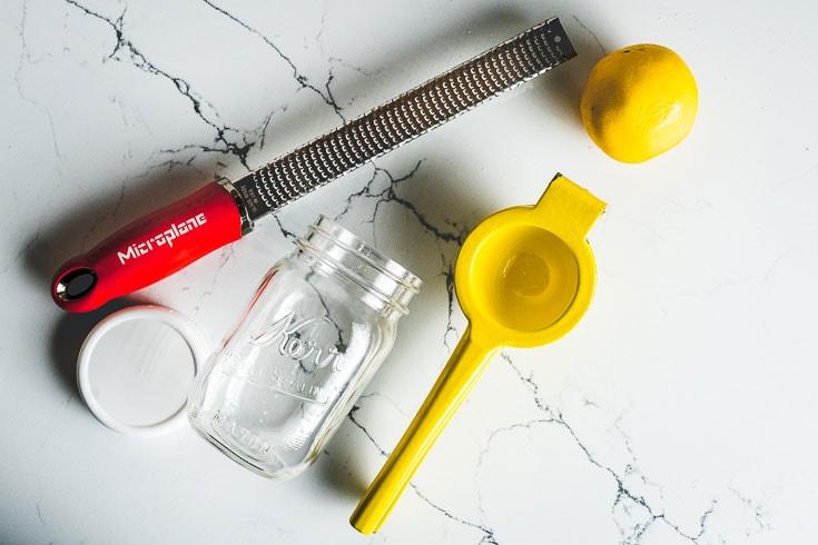 lemon vinaigrette tools