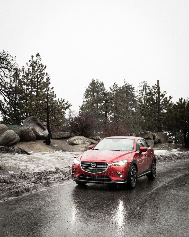 mazda cx 3 grand touring in the snow