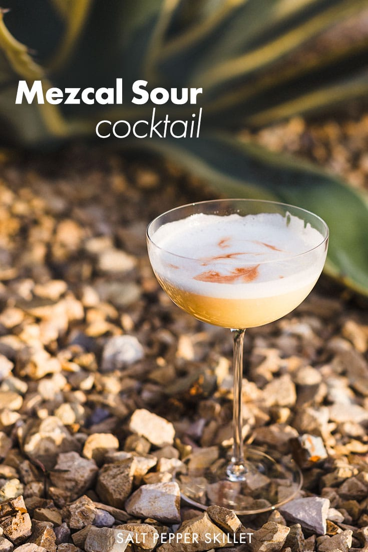 The Mezcal Sour. A perfectly balanced silky smooth mezcal sour cocktail that is one of the most refreshing and satisfying sips you can take. Wonderful texture with layers of citrus, sweet and smoke at the end. #mezcal #cocktails
