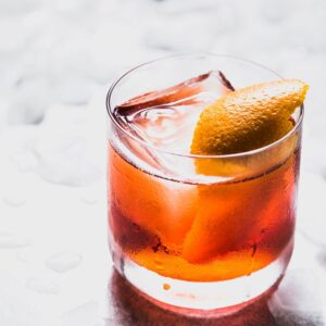 negroni cocktail recipe side view
