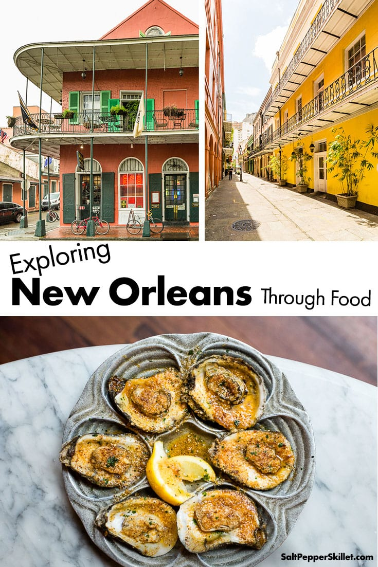 Exploring New Orleans Through Food. New Orleans is a cultural melting pot with beautiful architecture, distinct music, southern hospitality and unique food that bring together one of the most important culinary cities in the world. #saltpepperskillet #neworleans #nola #louisiana #travel #travelguide #vacation