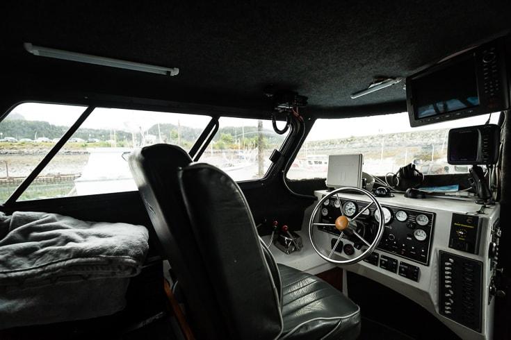 on a salmon boat in cordova alaska