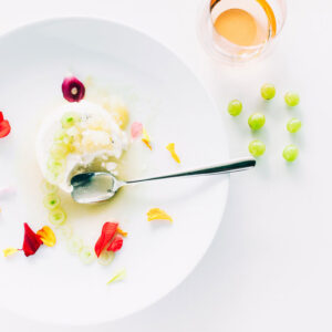 Panna Cotta + Muscat Grape Granita | SaltPepperSkillet.com