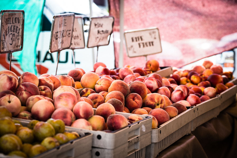 Peaches at the Farmer's market