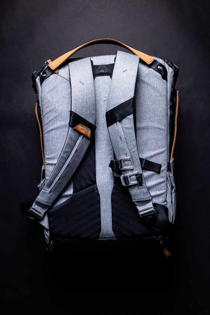 peak design everyday backpack back view