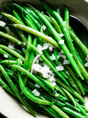 perfect green beans horizontal