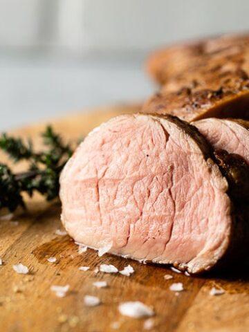 perfect sous vide pork tenderloin horizontal