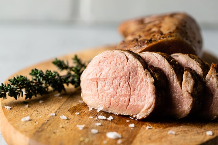 perfect sous vide pork tenderloin horizontal