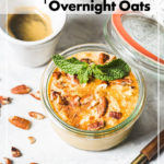 pumpkin pie overnight oats pin image