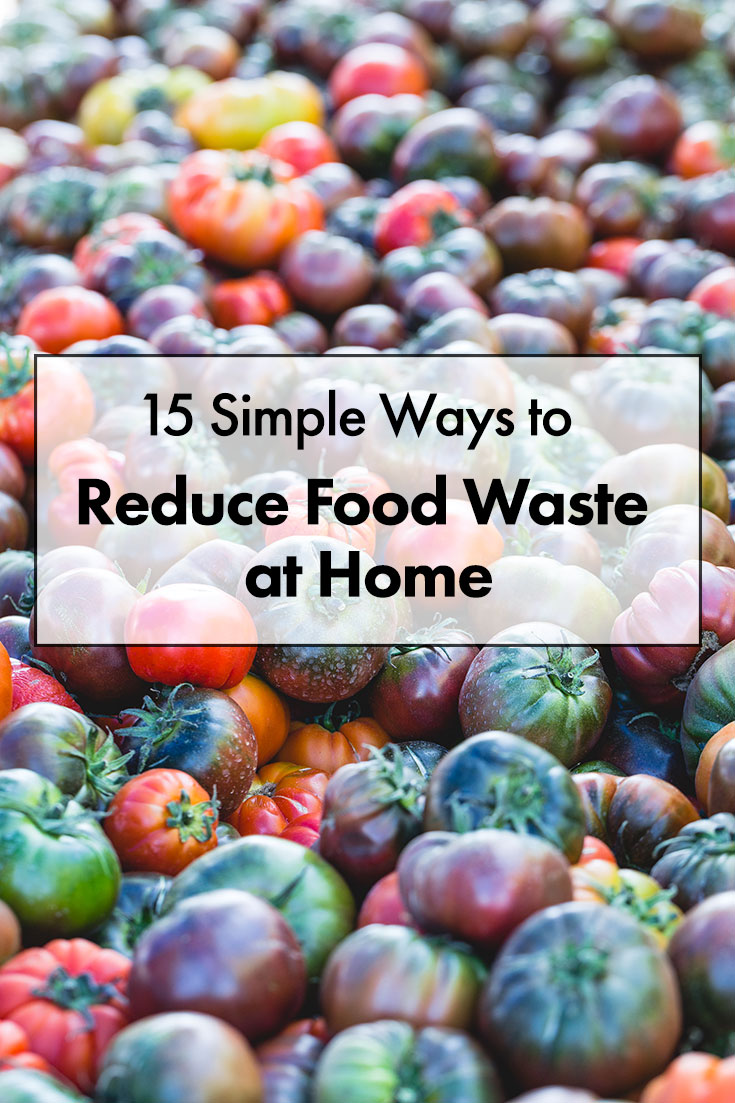 15 easy and actionable tips to significantly reduce food waste at home and save money at the same time. #foodwaste #kitchentips #reducefoodwaste #saltpepperskillet