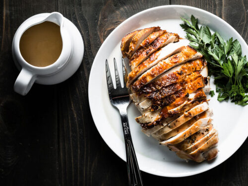 Brined and Herb Roasted Turkey Breast