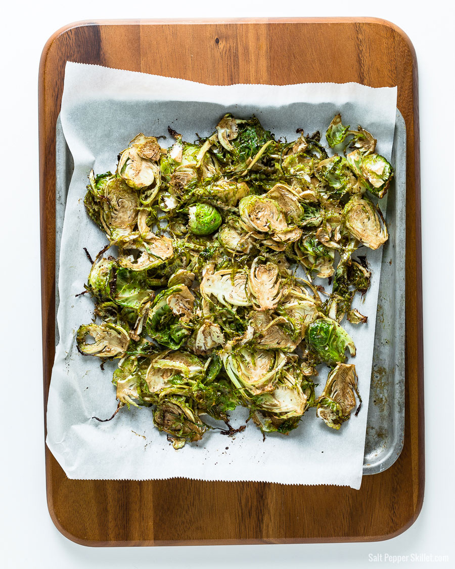 Roasted Brussels Sprouts on a Sheetpan