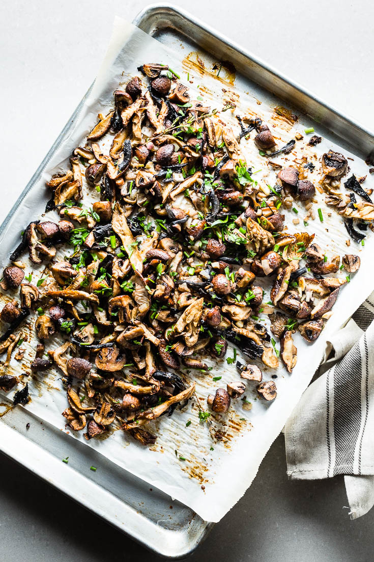 roasted mushrooms overhead