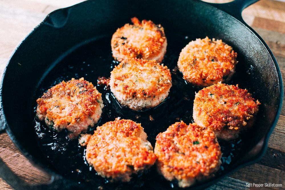 Salmon Cakes Recipe | SaltPepperSkillet.com