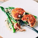 Salmon Cakes + Sauce Gribiche | SaltPepperSkillet.com