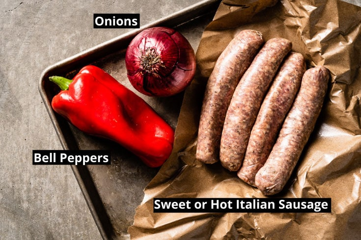 sausage and peppers ingredients labeled