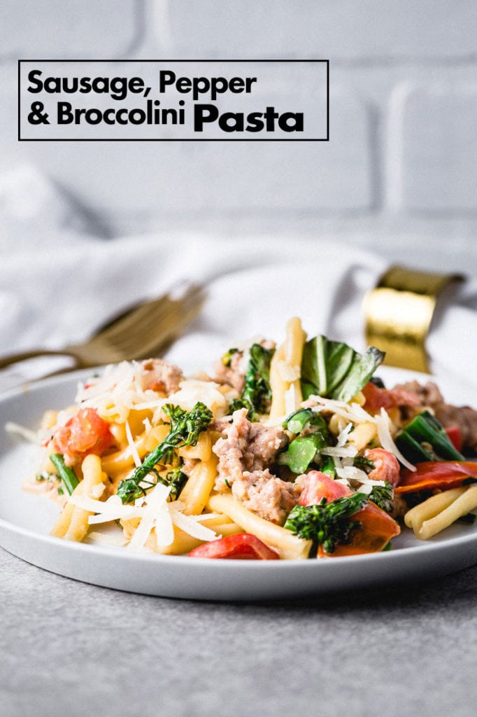 Sausage, Broccolini and Peppers Pasta