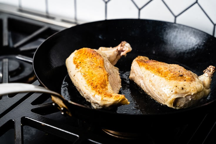 searing sous vide chicken breasts