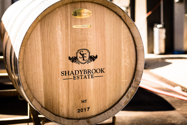 shadybrook estate winery wine barrels