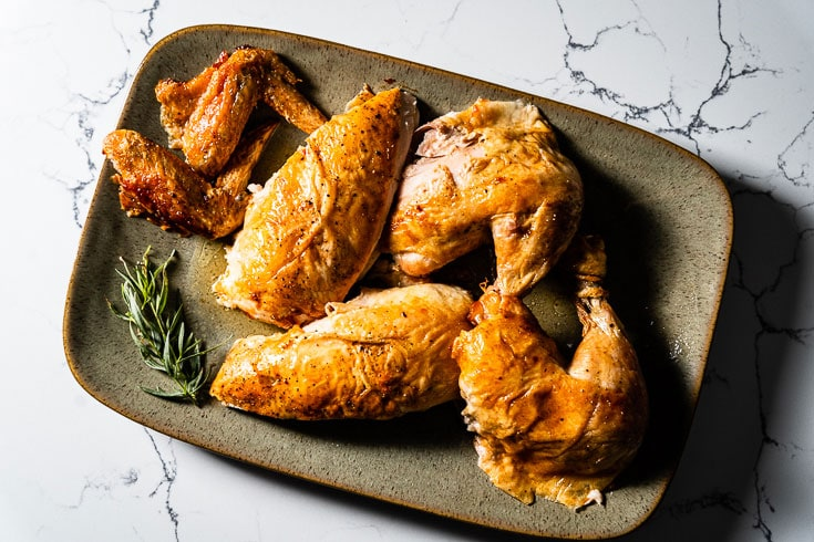 simple roast chicken pieces horizontal