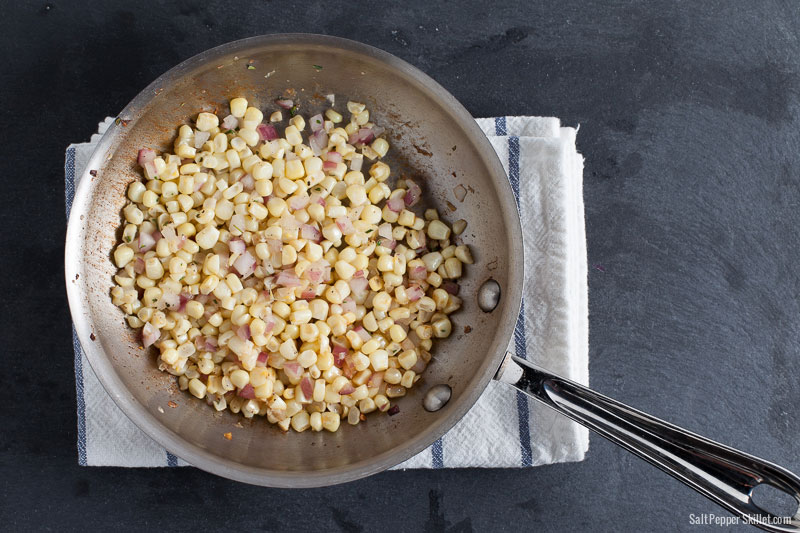 Simple Sauteed Fresh Corn | SaltPepperSkillet.com