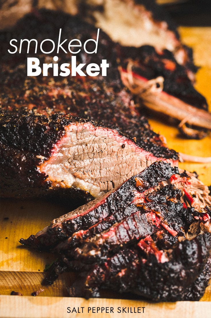 Pure and simple melt in your mouth and packed with flavor Texas-style smoked beef brisket. Seasoned with salt & pepper then smoked low and slow for about 9 hours with a combination of post oak and apple wood. #brisket #bbq