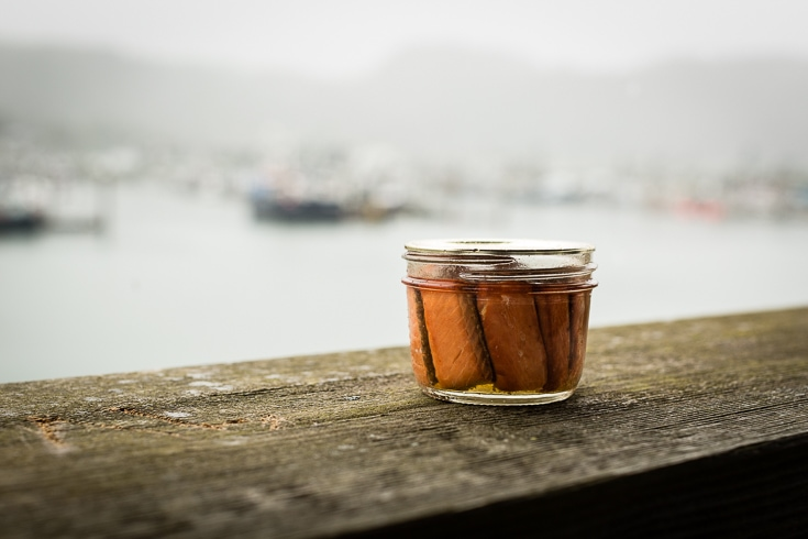 smoked salmon in cordova harbor