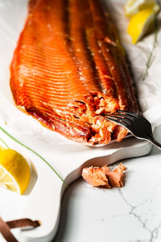 smoked salmon with for horizontal