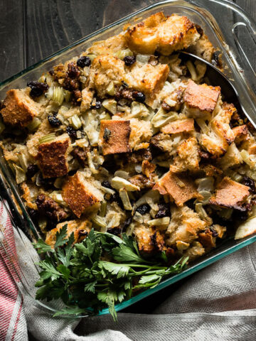 sourdough stuffing with sausage and apples