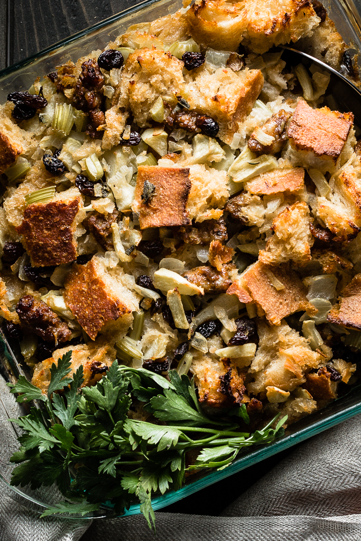 Sausage and Sourdough Thanksgiving Stuffing Recipe