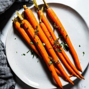 Sous Vide Carrots on Plate