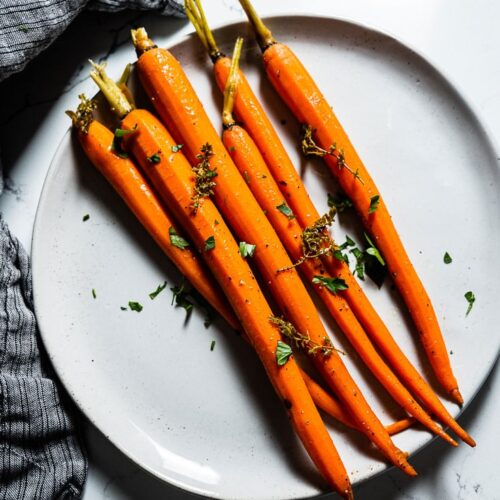 Sous Vide Carrots on Plate