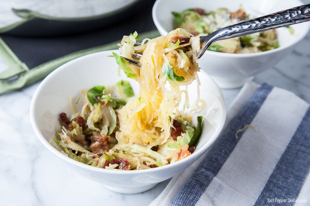Spaghetti Squash Brussels Sprouts Bacon
