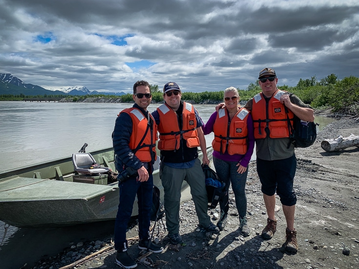 summer salmon camp 2019 on copper river bank