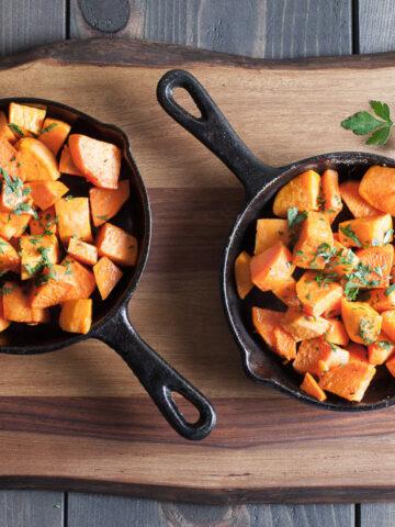 Sweet Potato Bites Recipe   SaltPepperSkillet.com