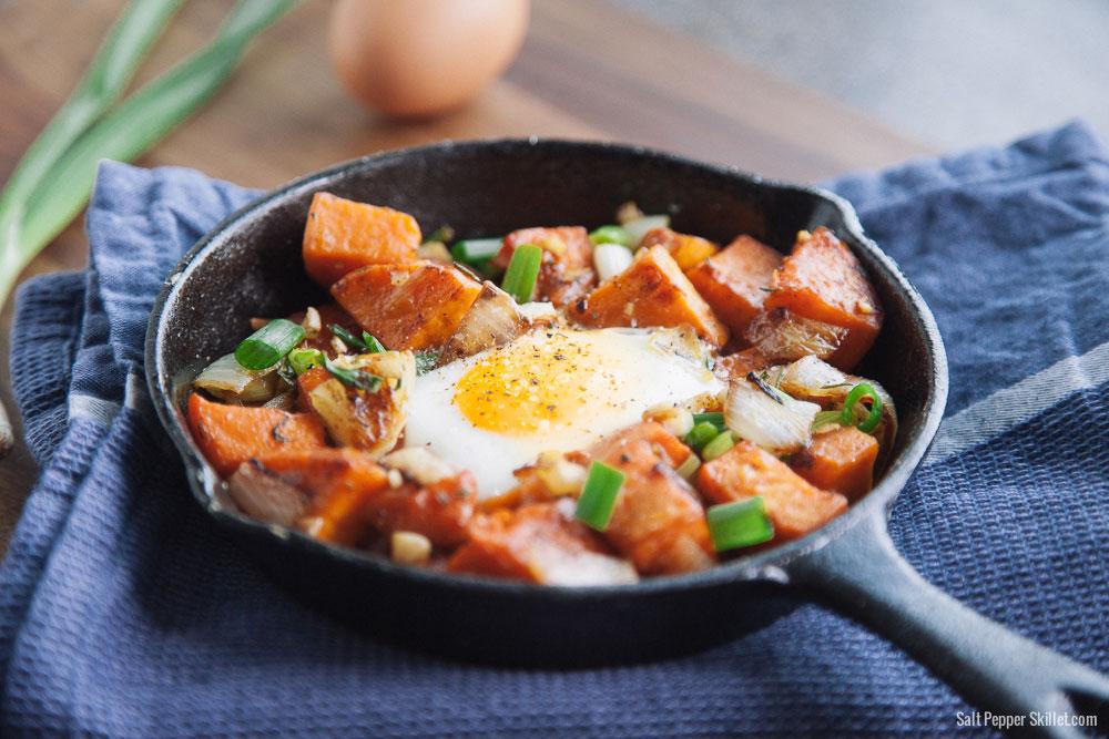 Sweet Potato Hash | SaltPepperSkillet.com