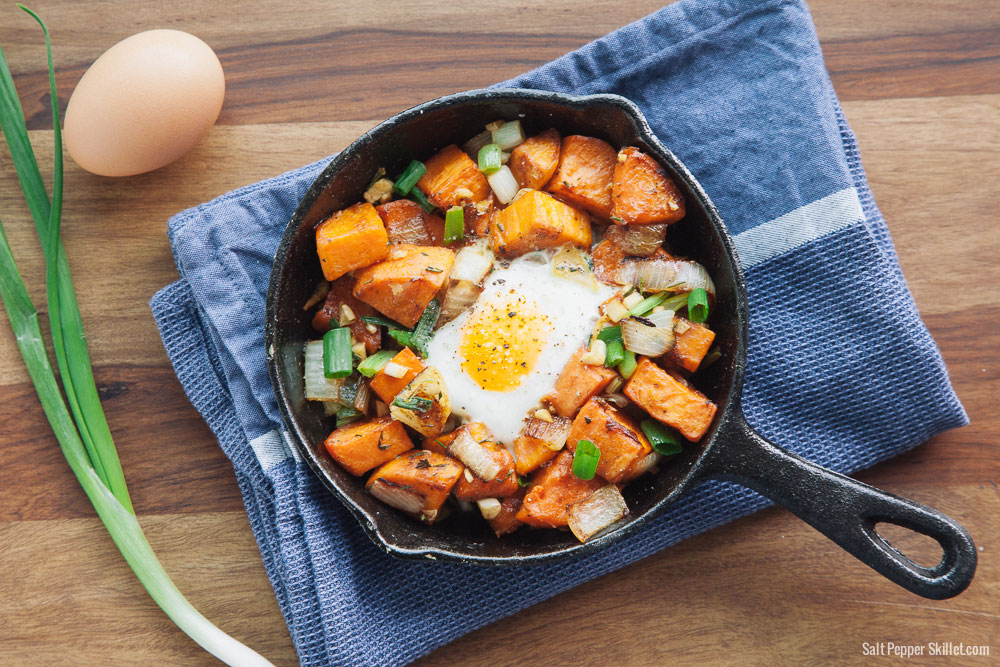 Sweet Potato Hash | SaltPepperSkillet.com