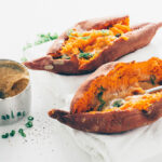 Sweet Potatoes + Maple Miso Butter | SaltPepperSkillet.com