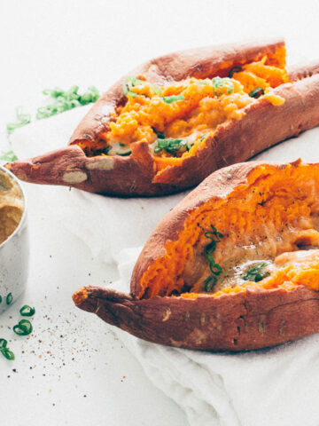 Sweet Potatoes + Maple Miso Butter | SaltPepperSkillet.com