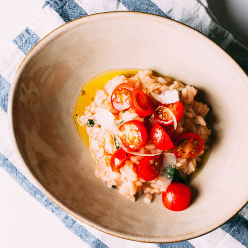 Tomato Risotto | SaltPeppersSkillet.com