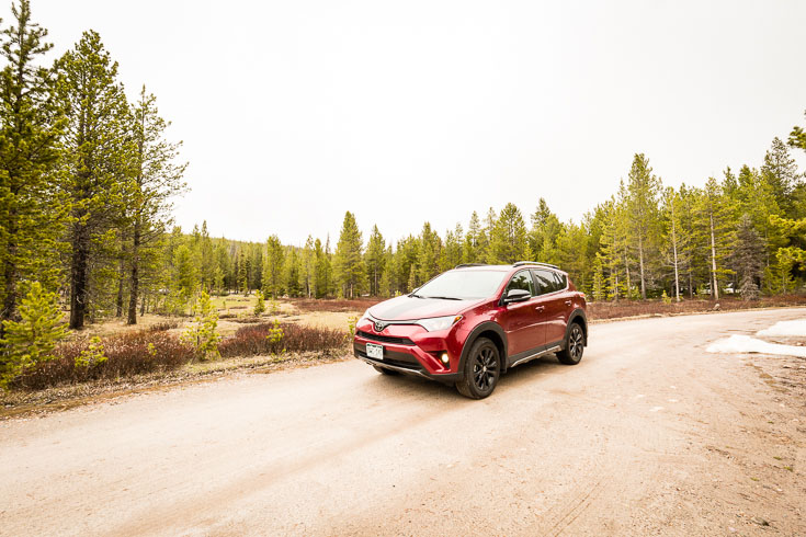 Toyota RAV4 Adventure on dirt road