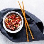 tuna poke bowl - horizontal